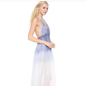NWOT LoveShackFancy Silk Floral Halter Dress